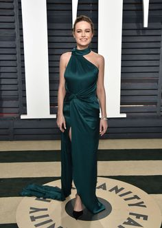 Brie Larson in Ralph & Russo Couture at 2017 Vanity Fair Oscar Party in Los Angeles