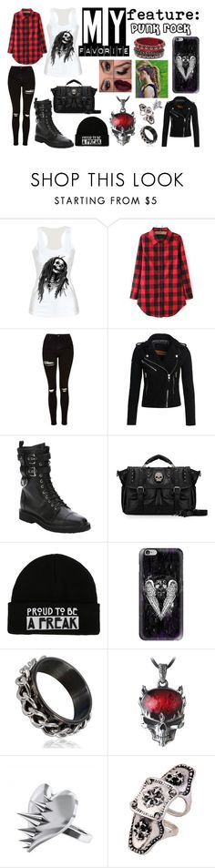 """""""My Favorite Feature: PUNK ROCK"""" by rac-ren on Polyvore featuring Topshop, Superdry, Giuseppe Zanotti, Casetify, Alchemy England, LUSASUL, Punk and flannel"""