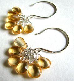 Citrine earrings by Amaria