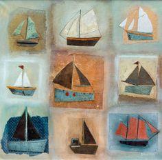 Wallis Boat Collage