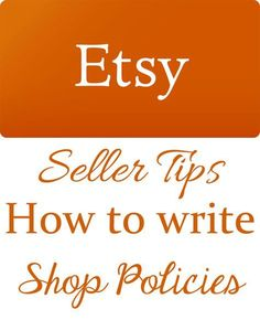 Laws you must follow when packaging handmade products pinterest etsy sellers tips how to write etsy shop policies wajeb Gallery