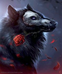 The Phantom of the Opera within the authentic The Phantom of the Opera is a - Anime Wolf Artwork Lobo, Wolf Artwork, Arte Furry, Furry Art, Mythical Creatures Art, Fantasy Creatures, Fantasy Wolf, Fantasy Art, Werewolf Art