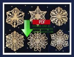 These filigree snowflake ornament patterns are available now for download so you can get started right away. They are a more challenging and intricate project but will make a great addition to your tree at Christmas time.