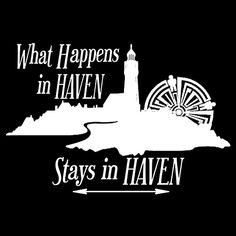 Haven Syfy Inspired Wall Art |  What Happens In Haven Lighthouse White Logo | All Prints Available As: Photographic Prints, Art Prints, Framed Prints, Canvas Prints, Metal Prints