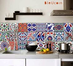 Decals to cover old tiles! Gypsy Yaya: Turkish Tile Decals