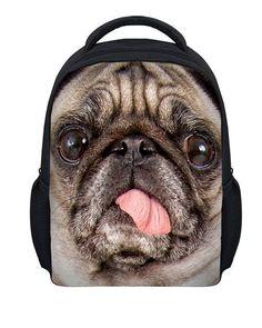 a9e40500d3f FORUDESIGNS Kids Backpack 3D Pug Dog Animal Mini Back Pack For Children  Boys Kindergarten Baby Student
