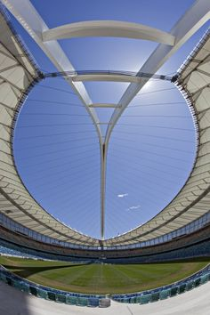I hate this stadium whilst it was being built, it brought SO much traffic on my way to school every morning & when the World Cup came round, it literally RUINED Durban & surrounding areas, but my god, I would do anything to go back to Beautiful Architecture, Contemporary Architecture, Durban South Africa, Sports Stadium, Kwazulu Natal, Building Systems, Amazing Buildings, Beaches In The World, Center Stage