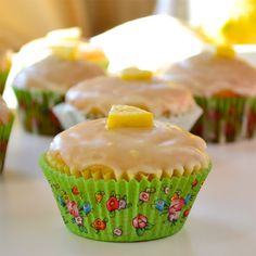 Guiltless Lemon Cupcakes ~ Pucker up and feel guiltlessly rewarded! I tested these last week for my Shrinking On a Budget Meal Plan. They are as delicious as promised! Healthy Desserts, Just Desserts, Delicious Desserts, Yummy Food, Light Desserts, Lemon Desserts, Healthy Foods, Cupcake Recipes, Cupcake Cakes