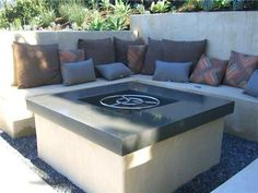 This is awesome and I love the concrete bench!