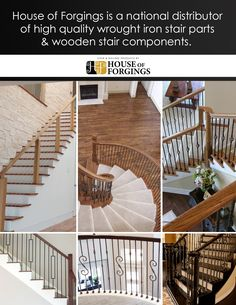 Stair and Railing Products Stair Components, Stair Builder, Best Powder, Parts Of Stairs, Iron Balusters, Wooden Stairs, Home Builders, Building, House
