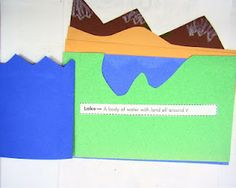 Great idea for a booklet on landforms.