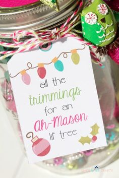 Trim a Tree Kit in a Mason Jar - Shes {kinda} Crafty