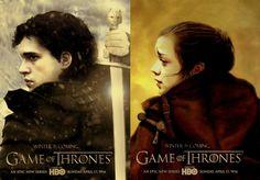Game of Thrones - Jon + Arya by riogirl9909.deviantart.com on @deviantART