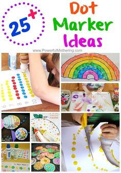 A great collection of things to do with your dot markers with art and crafts, learning and tons of inspiring printables! #preschool #toddler: