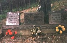 Graves of Loretta's parents, Melvin and Clara Webb.  Family Cemetery. Van Leer, KY.