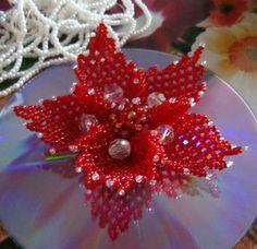 Ажурный цветок | С весной! biser.info - всё о бисере и бисерном творчестве