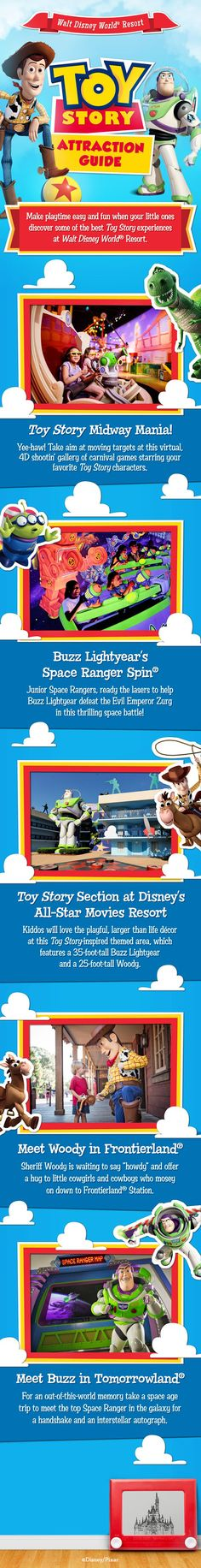 Make playtime easy and fun when your little ones discover some of the best Toy Story experiences at Walt Disney World Resort.