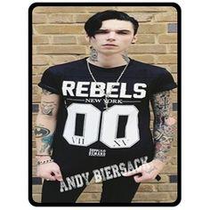 Fleece Blanket- Andy biersack Custom Fleece Blanket Bedroom Bed Pre Gift Ideas 7