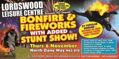 ~ Poster Distribution for Lordswood Firework Night ~ - Thursday 6th November 2014 - Come & enjoy the fireworks and bonfire at Lordswood Leisure Centre! Toilets & security will be on site and there is also be free car parking near by A public...