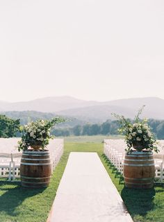 Romantic Pippin Hill Farm wedding ceremony: http://www.stylemepretty.com/virginia-weddings/charlottesville/2016/09/29/the-only-east-coast-vineyard-wedding-you-need-to-see/ Photography: Allison Kuhn - http://www.allisonkuhnphotography.com/
