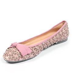Sweet Ballerina, scarpa bassa pelle rosa donna