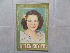 *EXTREMELY RARE* QUIEN SOY YO JUDY GARLAND EARLY CIRCA 1940'S SPANISH MAGAZINE