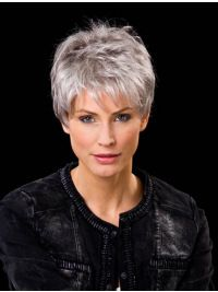 Explore our collection of gorgeous wigs, extensions, and hair pieces. We have Cropped Wavy Boycuts Hand-tied Wigs for every occasion. Short Hair Over 60, Short White Hair, Short Hair Older Women, Short Hair With Layers, Haircut For Thick Hair, Cute Hairstyles For Short Hair, Wig Hairstyles, Curly Hair Styles, Hairstyles 2016