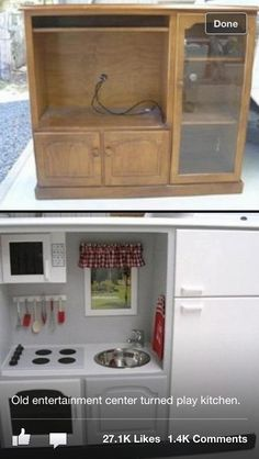 Play kitchen  Love this idea for kids