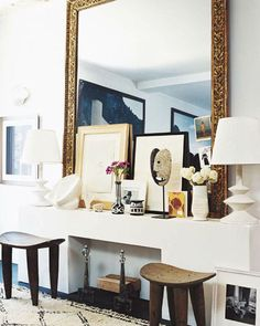 Home interior design mantle. hello sukio