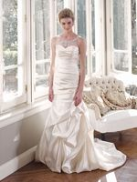 What do you think of the sheer tank neckline? I looooove it. Mia Solano #Wedding #Dresses - Style M1308Z - http://thealternativebride.com