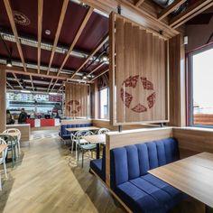Sheriff restaurant by Yellow Office architecture, Targoviste – Romania  » Retail Design Blog #screen #branding #logo