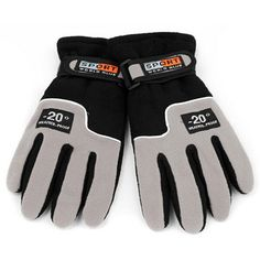 Fleece Ski Gloves Warm Autumn And Winter Outdoor Mittens