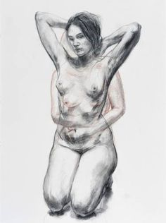 "Saatchi Art Artist Kim Hyunji; Drawing, ""Elly smallwood"" #art Amazing Drawings, Realistic Drawings, Cool Drawings, Figure Sketching, Figure Drawing, Elly Smallwood, Sketch Inspiration, Pulp Art, Art Studies"