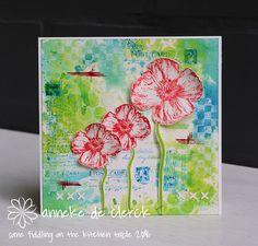 Some fiddling on the kitchen table: Darkroom Door 'Poppies'