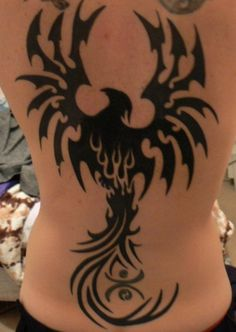 Phoenix is a mythological bird in the legends of many cultures. As a spiritual creature, phoenix tattoos appear on bodies of tattooer in artistic styles. Tribal Tattoo Designs, Tribal Bird Tattoos, Tribal Pattern Tattoos, Tribal Sleeve Tattoos, Tattoo Designs For Women, Maori Tattoos, Phönix Tattoo, Celtic Tattoos, Body Art Tattoos