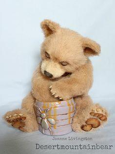 Realistic Kermode black bear cub teddy bear  by Joanne Livingston Desertmountainbear