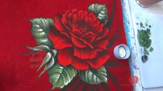 Rosas em Tecido Vermelho (Aula 70)