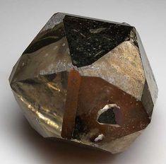 Pyrite, Merelani Hills, Arusha, Tanzania. Size 6.5 x 6 x 5.5 cm.  Complete, equant single Pyrite crystal