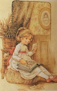 Sarah Kay Vintage Pictures, Cute Pictures, Sara Kay, Vintage Drawing, Sweet Pic, Holly Hobbie, Cartoon Pics, Painting Patterns, Illustrations