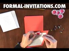 How to make diy wedding invitations with embossed flowers and crystal brads