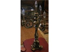 Black and Gold Candlestick Lamp