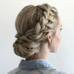 Double Braided Updo. Full length tutorial here > https://youtu.be/ixrXlTqu564
