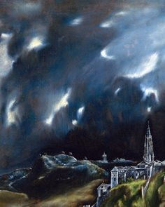 El Greco, View of Toledo (detail), c. 1599 Born Doménikos Theotokópoulos 1541 Heraklion, Crete Died 7 April 1614 (aged 72–73) Toledo, Spain Nationality Greek Known for Painting, sculpture and architecture Notable work El Expolio (1577–1579) The Assumption of the Virgin (1577–1579) The Burial of the Count of Orgaz (1586–1588)