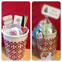 Jamberry mani/pedi gift mug! $10. Comes with one mani's or pedi's worth of wraps and everything you need to apply them! comment below if you are interested!  #teachers #SecretSanta