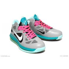 Nike LeBron 9 Low 'South Beach' Custom | SneakerFiles ❤ liked on Polyvore