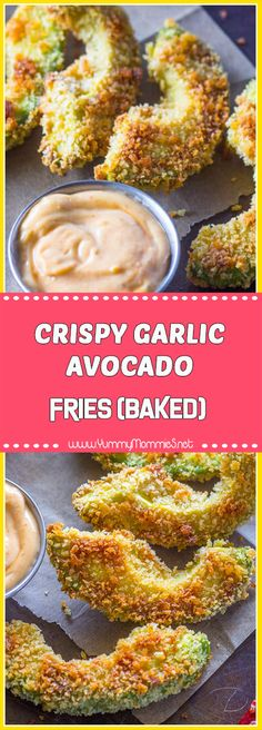 CRISPY GARLIC AVOCADO FRIES (BAKED)