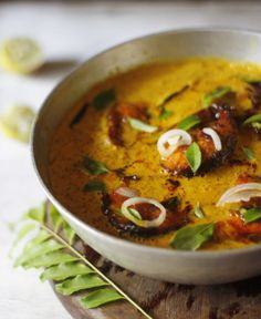Curry leaves, freshly pressed coconut milk and the aroma of tempered spices in the air. How I love my life, especially when it involves this lip smacking fish curry, mi amore` and a rainy night. Curry Recipes, Fish Recipes, Seafood Recipes, Indian Food Recipes, Soup Recipes, Cooking Recipes, Healthy Recipes, Ethnic Recipes, Cooking Fish