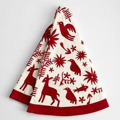 otomi christmas tree skirt  http://www.nativashop.com/handmade-otomi-embroidered-christmas-tree-skirt-red.html