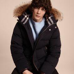 BURBERRY 可拆式皮草装饰羽绒羊绒外套. #burberry #cloth #