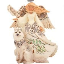 Jim Shore Woodland Angel With Siberian Husky Figure